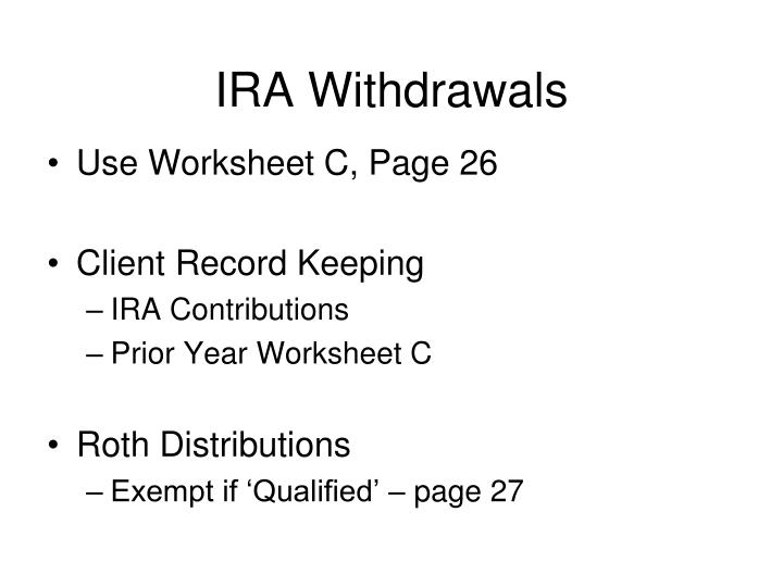 IRA Withdrawals