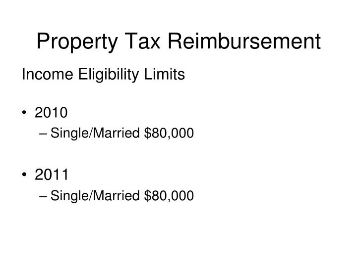 Property Tax Reimbursement