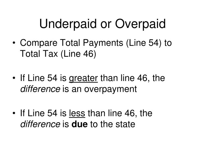 Underpaid or Overpaid