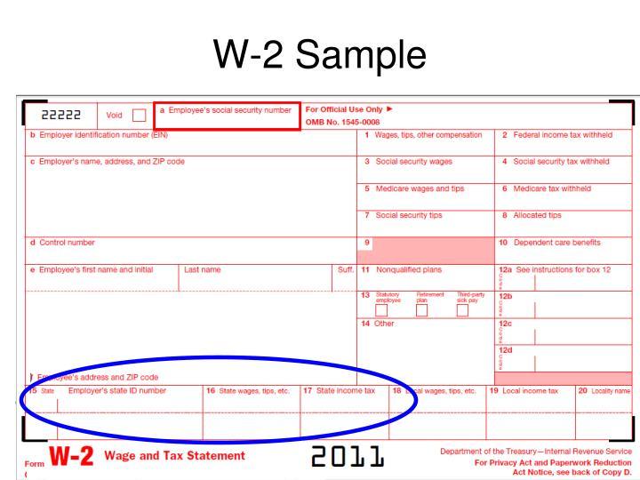 W-2 Sample