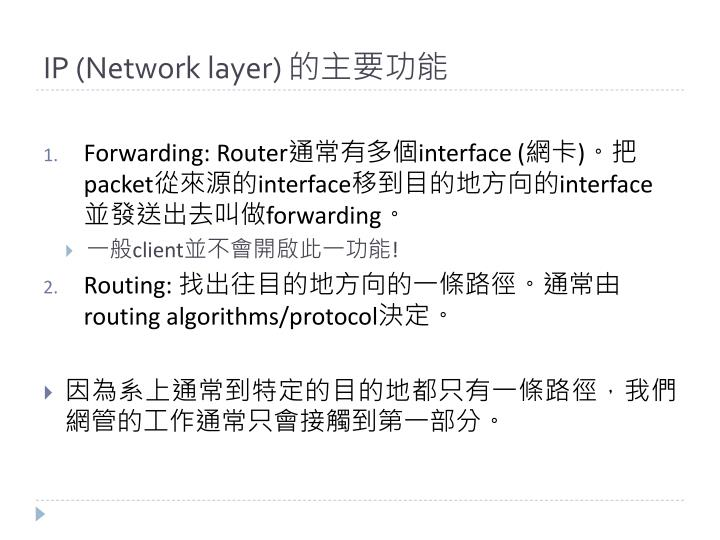 IP (Network layer)