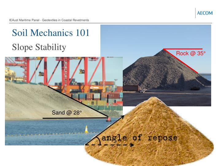 IEAust Maritime Panel - Geotextiles in Coastal Revetments