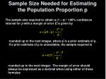 sample size needed for estimating the population proportion p