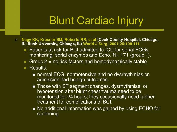 Blunt Cardiac Injury