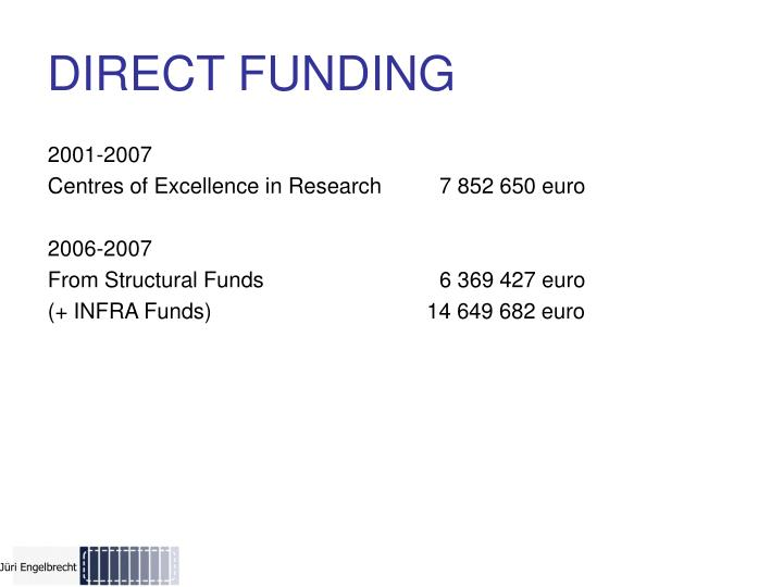 DIRECT FUNDING