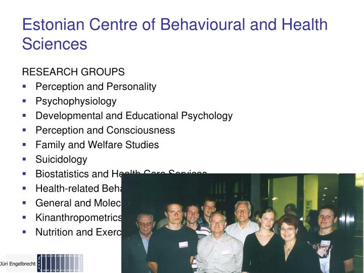 Estonian Centre of Behavioural and Health Sciences