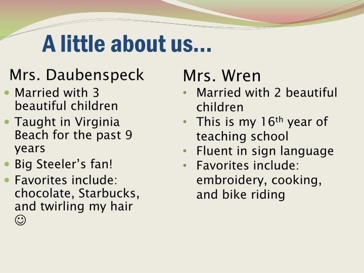 A little about us...
