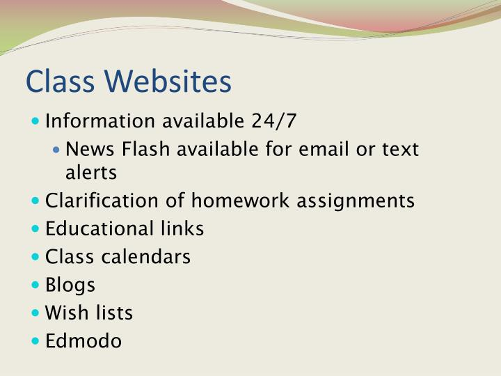 Class Websites