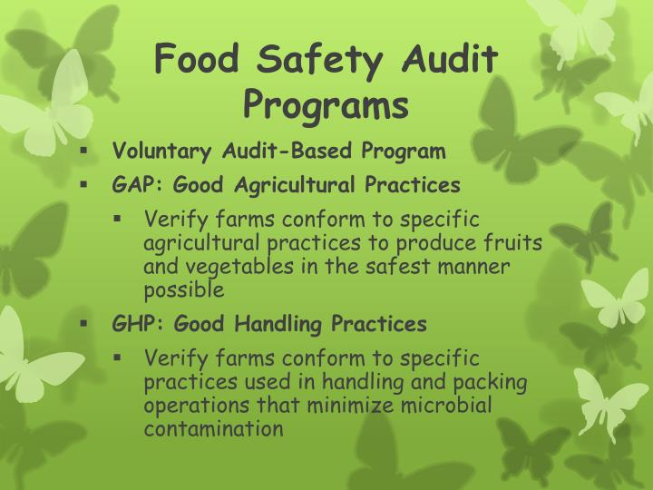 Food Safety Audit Programs