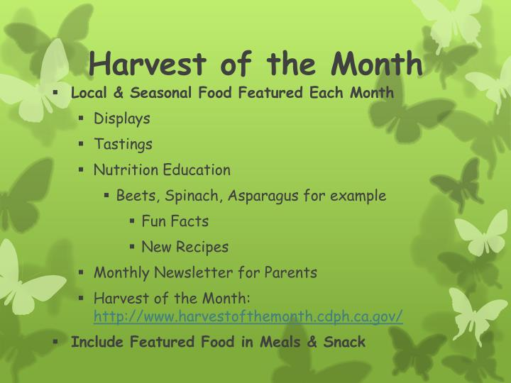 Harvest of the Month