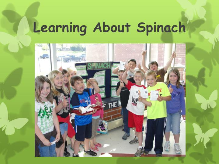 Learning About Spinach