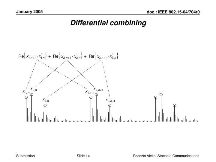 Differential combining