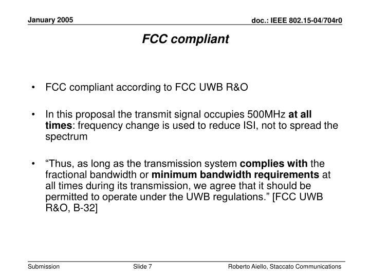 FCC compliant