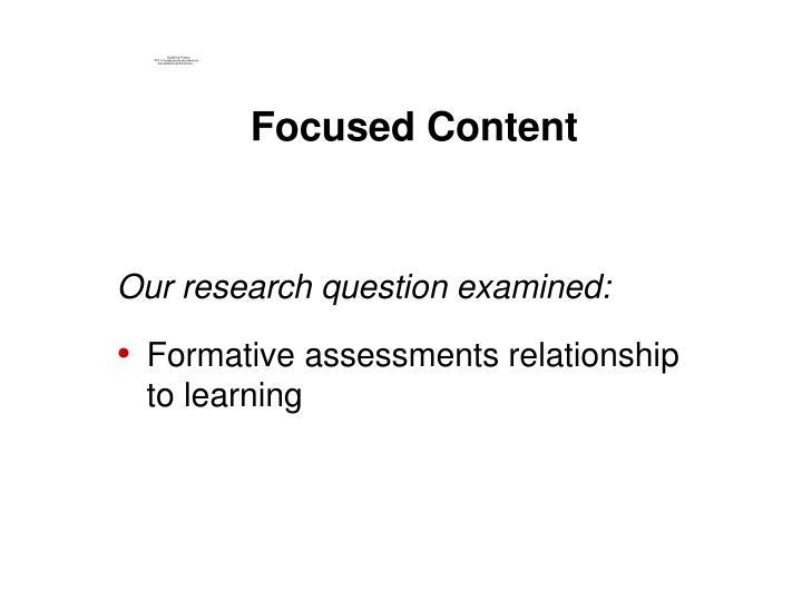 Focused Content