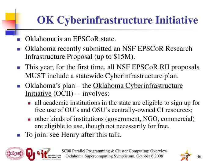 OK Cyberinfrastructure Initiative