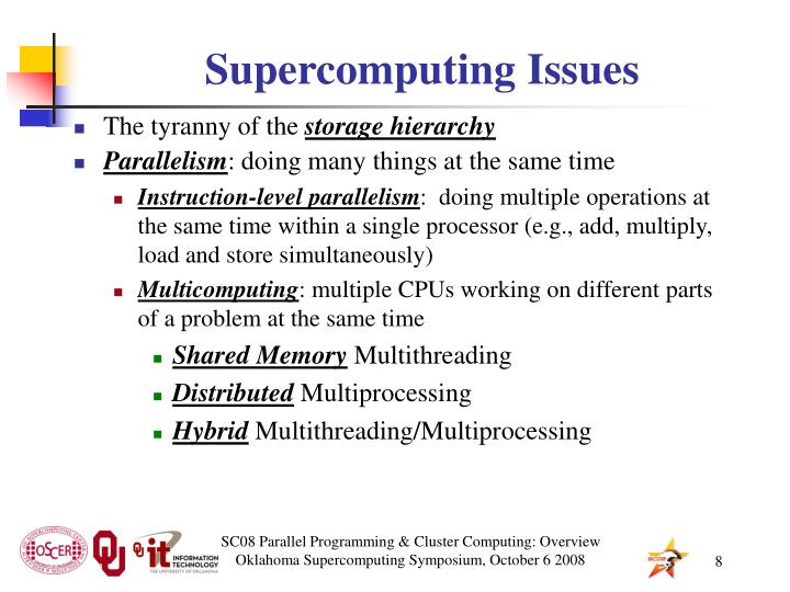 Supercomputing Issues
