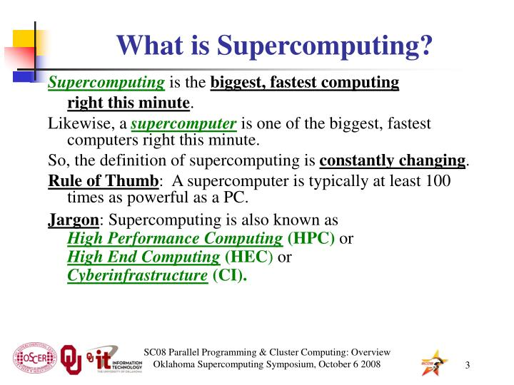 What is supercomputing1