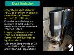 dust emission