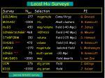 local h a surveys