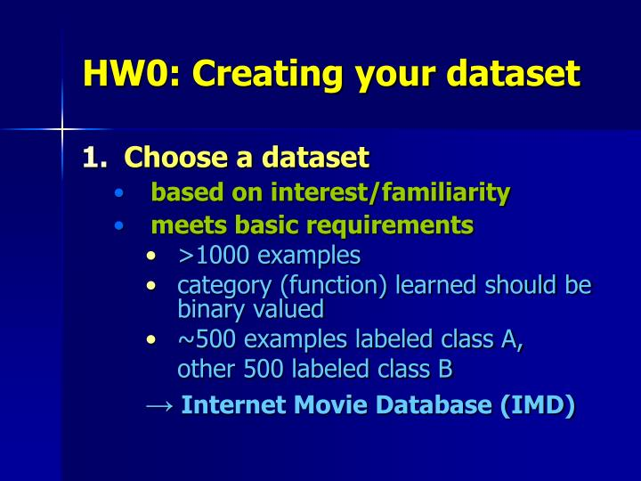 HW0: Creating your dataset