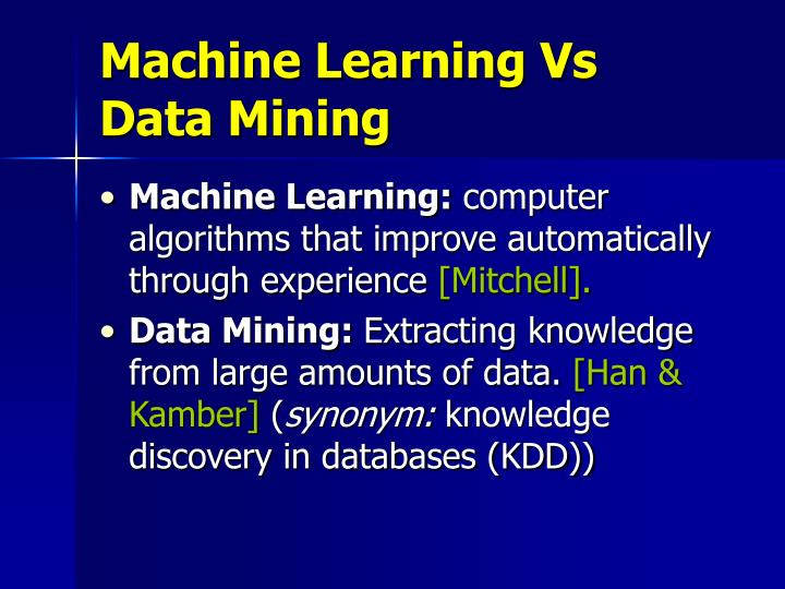 Machine Learning Vs