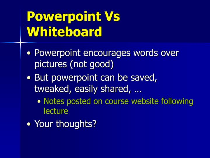 Powerpoint Vs Whiteboard