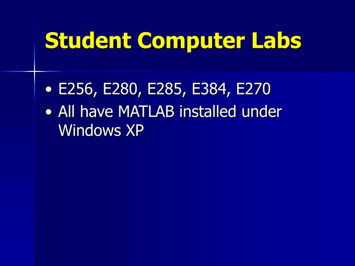 Student Computer Labs