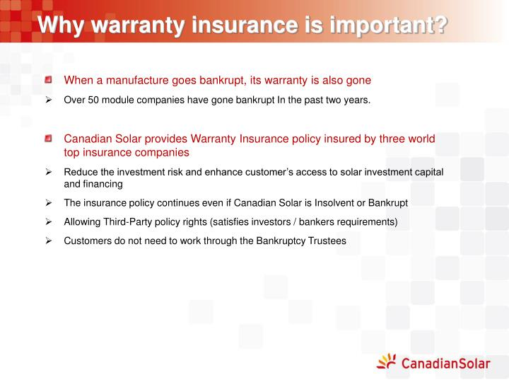Why warranty insurance is important?