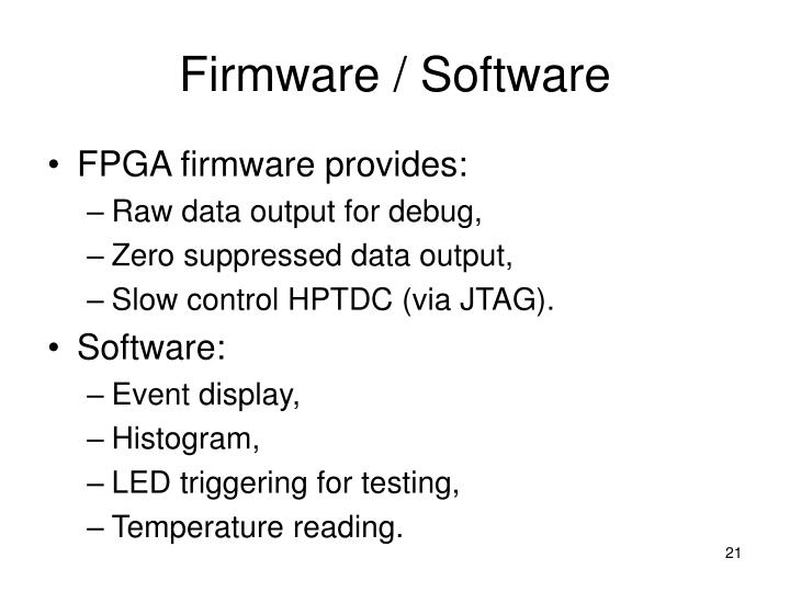 Firmware / Software