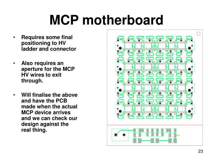 MCP motherboard