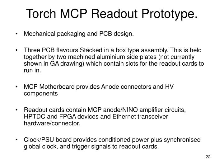 Torch MCP Readout Prototype.