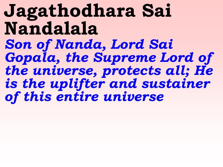 Jagathodhara Sai Nandalala