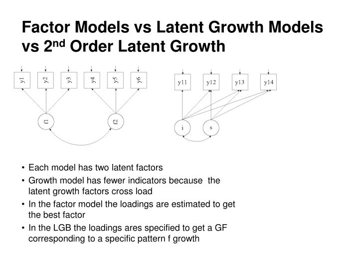 Factor Models vs Latent Growth Models