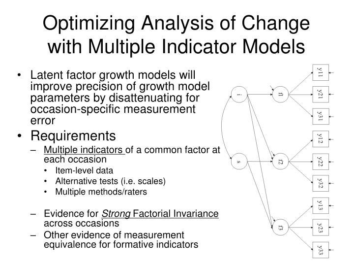 Optimizing Analysis of Change with Multiple Indicator Models