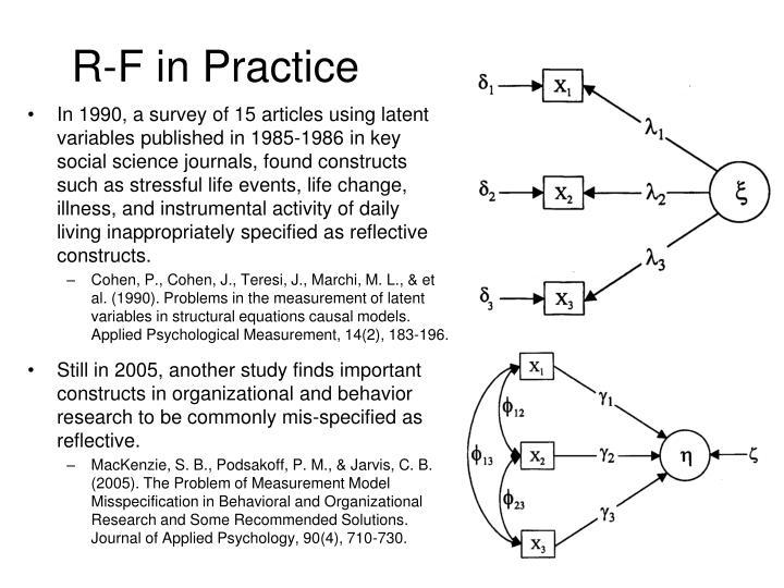 R-F in Practice