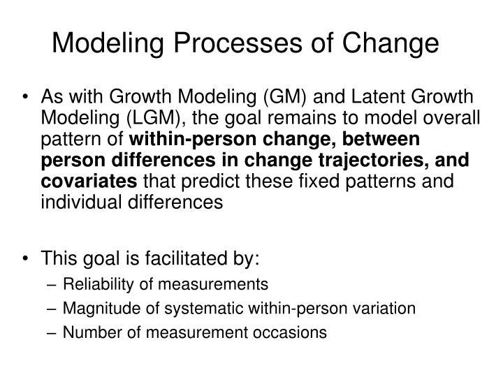 Modeling Processes of Change