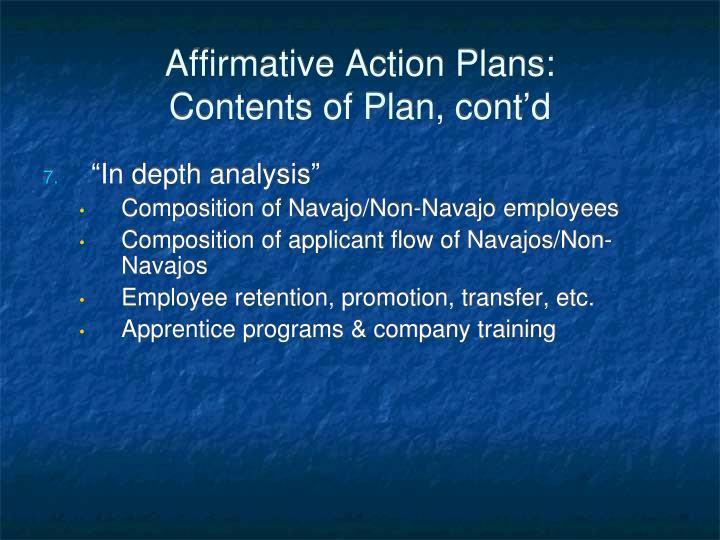 Affirmative Action Plans: