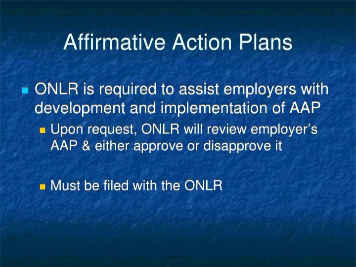 Affirmative Action Plans