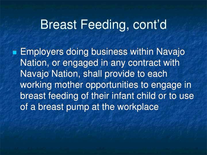 Breast Feeding, cont'd