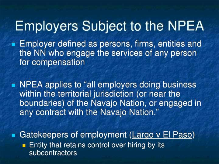 Employers Subject to the