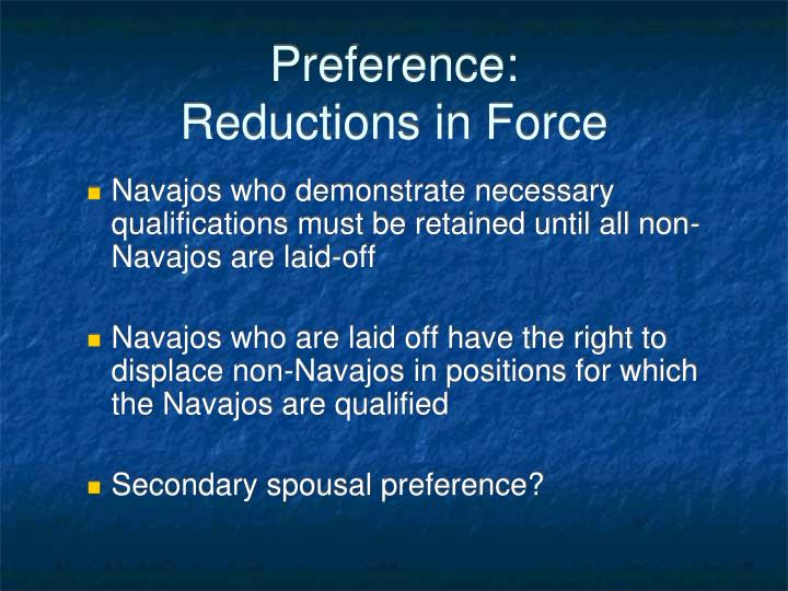 Preference: