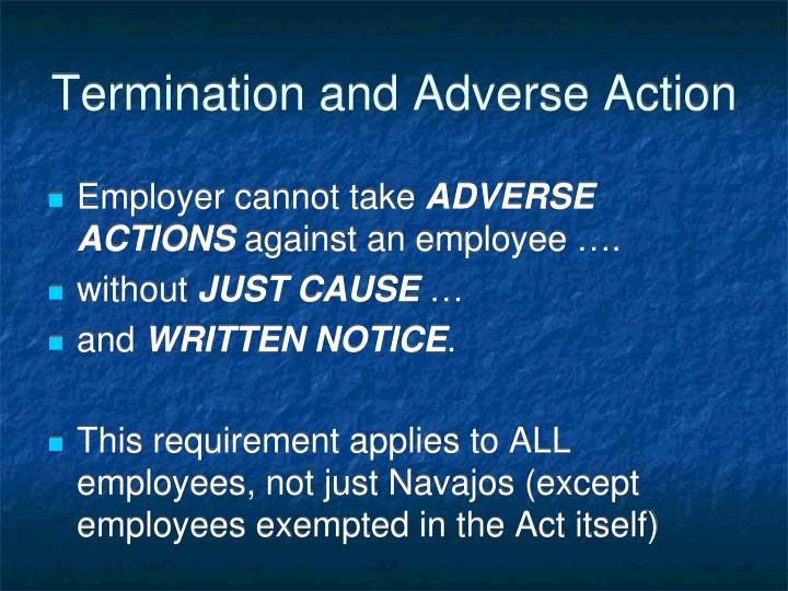 Termination and Adverse Action