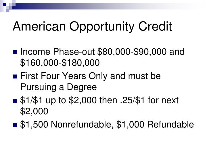 American Opportunity Credit