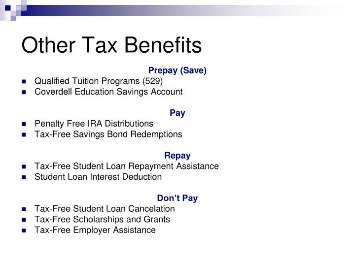 Other Tax Benefits