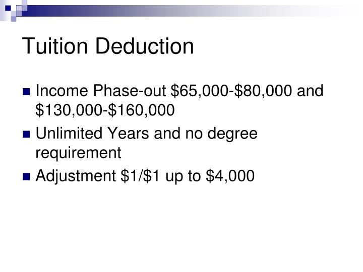 Tuition Deduction
