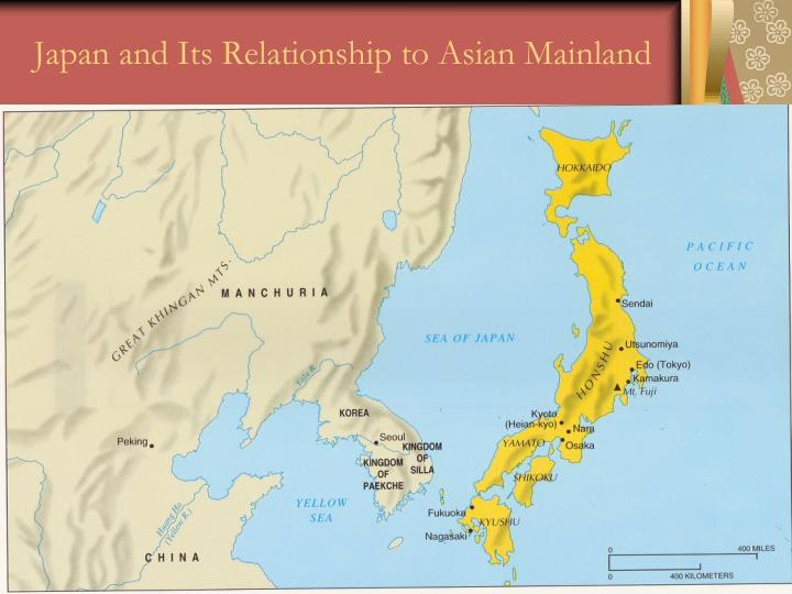 Japan and its relationship to asian mainland