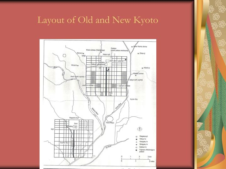 Layout of Old and New Kyoto