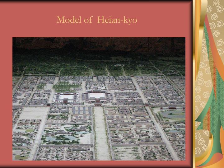 Model of  Heian-kyo