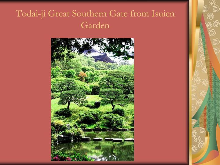 Todai-ji Great Southern Gate from Isuien Garden