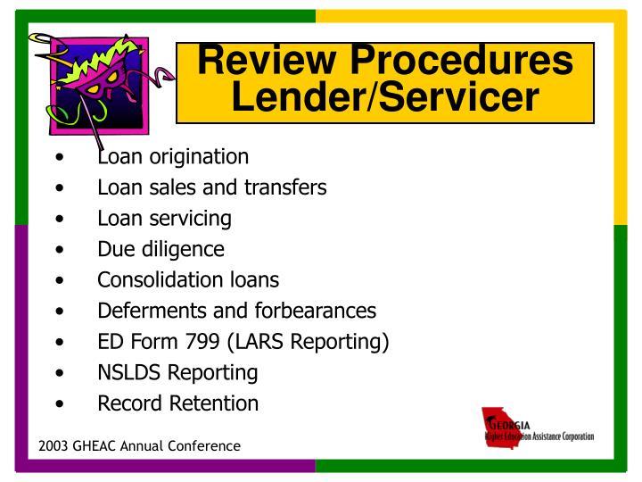 Loan origination